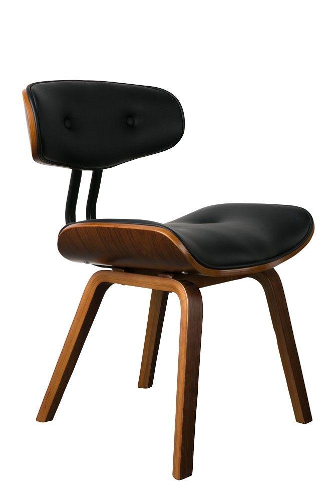 Ein Gruß aus den 50ern!  Blackwood von Dutch Bone: Die Antwort auf den klassischen Lounge Stuhl. Ein komfortabler, edler Klassiker der seinen Ursprung in den 50er Jahren findet. Das elegante Walnußholz und das pflegeleichte PU-Leder...