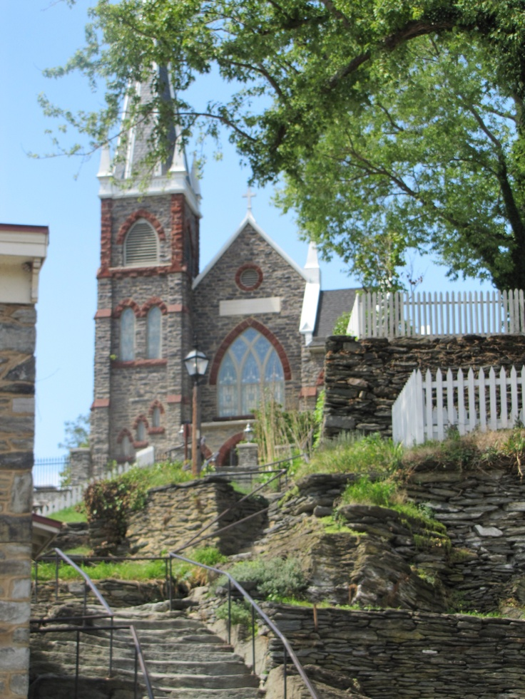 A Photo I took of the church at Harpers Ferry, WV.