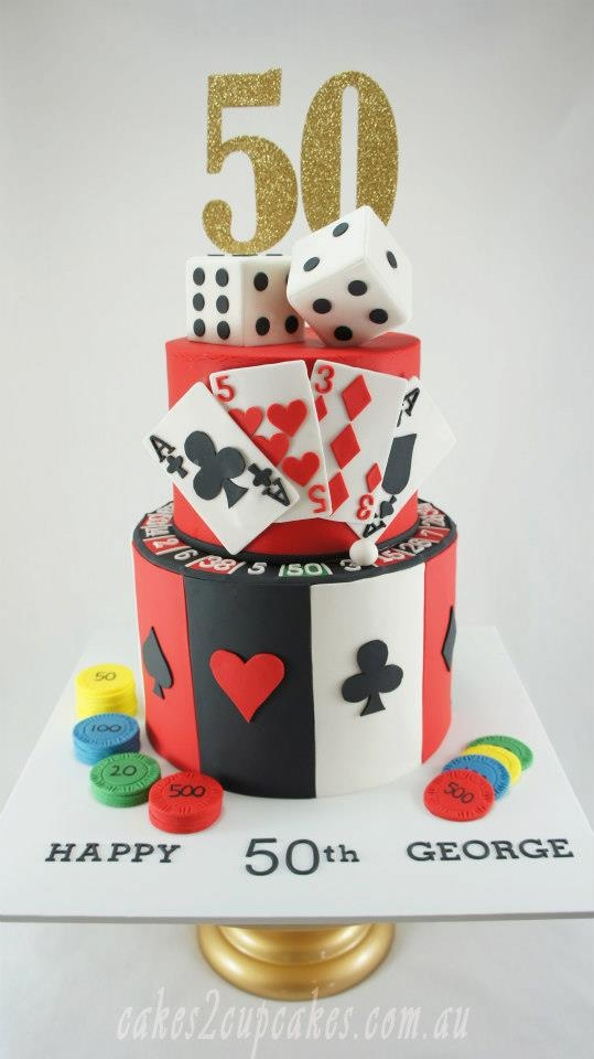 Great cake for a casino themed event.