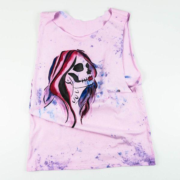 Koszulka Santa Muerte/ Dead Girl - Martwestudio - Koszulki bez rękawów