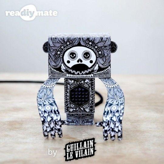Si vous appréciez les Art toys, un projet Kickstarter baptisé reaDIYmate pourrait vous intéresser. Fabriqués à partir de papier, les reaDIYmates sont de petits robots qui se déplacent et jouent des sons en fonction de ce qui se passe dans votre vie numérique.