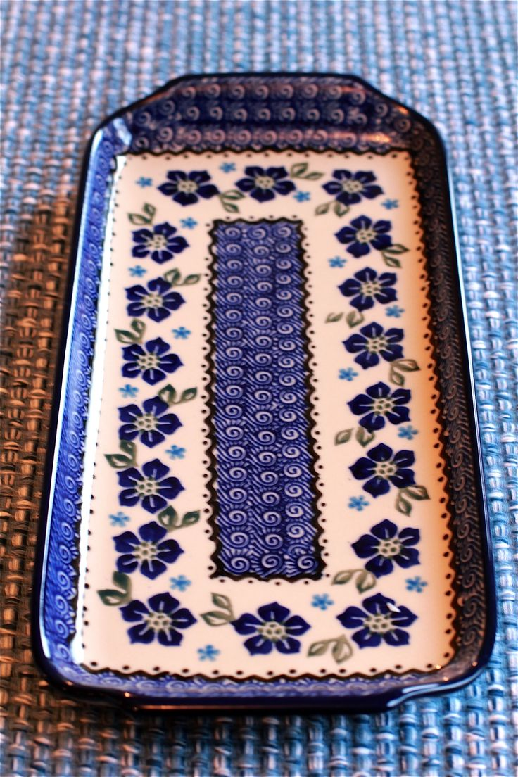 blue sandwich platter | ... Polish Pottery & Stoneware sent me this beautiful platter to review