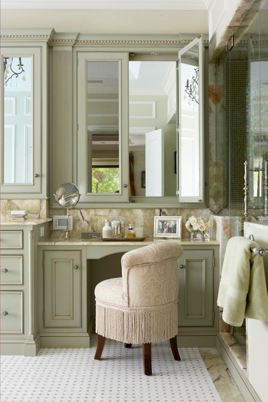 Three Way Pampering With Quiet Elegance, This Dressing Table Provides Behind  Closed