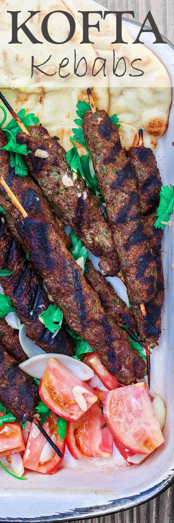 Kofta Kebab Recipe   The Mediterranean Dish. Authentic kofta kebabs with ground beef and lamb, garlic, onions, fresh parsley and warm Middle Eastern spices. See the step-by-step tutorial on The Mediterranean Dish.