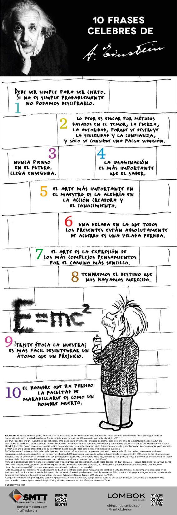10 #frases célebres de #Einstein #reflexiones
