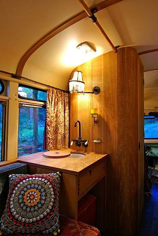 viking short bus conversion turned to cabin on wheels by winkarch 007 1959 Viking Short Bus Converted into Cabin on Wheels You Can Live In