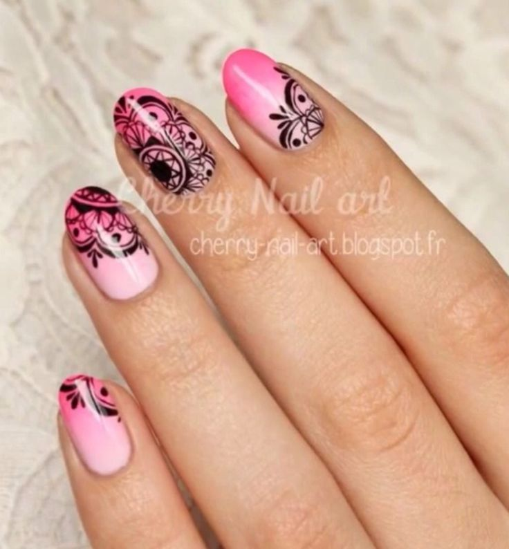 Mandala nail art                                                                                                                                                                                 Plus