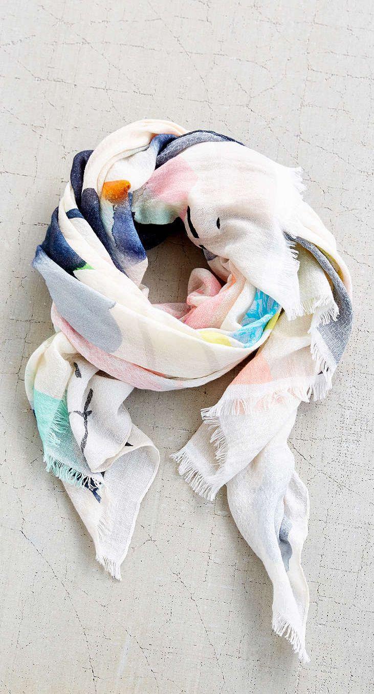 Watercolors scarf