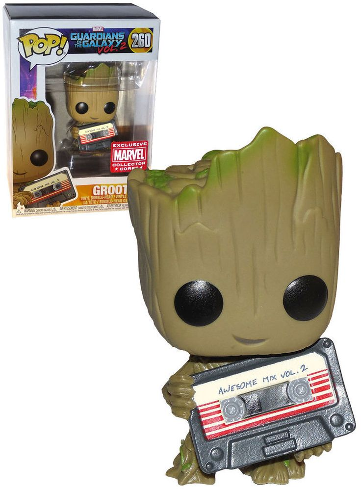 Funko POP! Marvel Guardians Of The Galaxy Vol. 2 #260 Groot (Awesome Mix Tape) - Marvel Collector Corps Exclusive - New, Mint Condition. https://www.supportivepc.com #Funko #FunkoPop #Marvel #GuardiansOfTheGalaxy #Groot #Collectibles