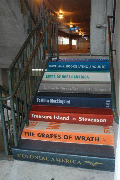 Book stairs...I need to find someplace to do this!