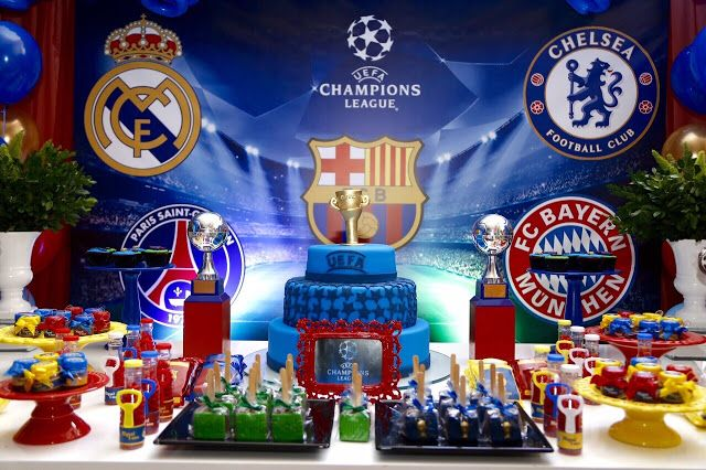 Memories Party: Champions League para Miguel - 6 anos
