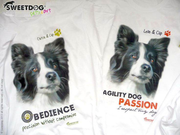Dog: CLIP (Border Collie) - Personalized T-Shirt and Hoodie - www.facebook.com/SweetDogStore