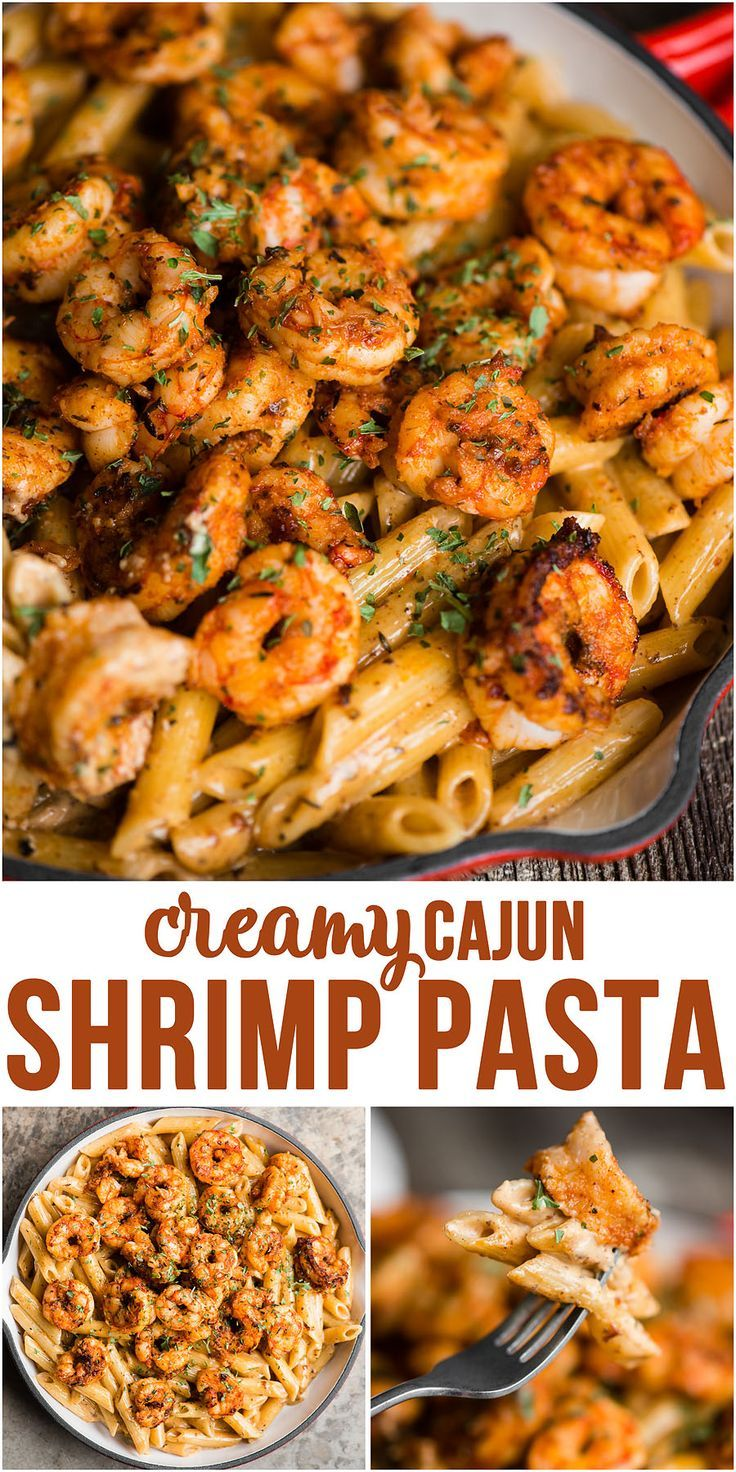 Cajun Shrimp Pasta with a spicy and rich cream sauce is a quick and easy dinner