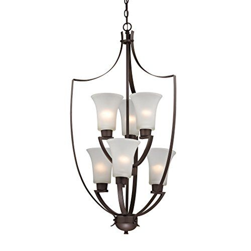 elk lighting 7726fy10 foyer collection 6light chandelier oil rubbed bronze