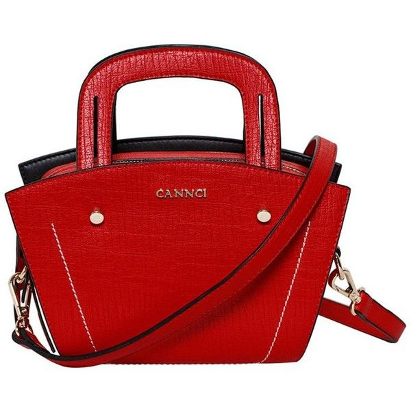 Rivet Tote Bag ($58) ❤ liked on Polyvore featuring bags, handbags, tote bags, tote bag purse, handbags tote bags, red tote bag, red tote and red tote purse