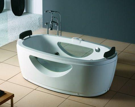 Modern Baignoire ilot blanc pour donner un nouvel aspect à votre salle de bain chez http://www.items-france.com