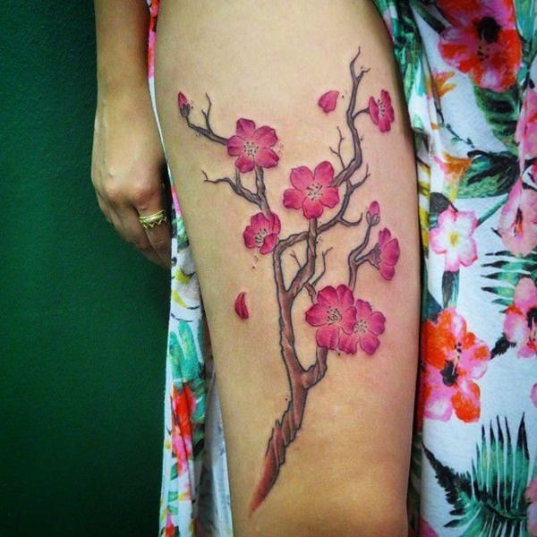 50 Japanese Cherry Blossom Tattoos You Should Get This Spring Blossom Tattoo Cherry Blossom Tattoo Tattoo Designs And Meanings