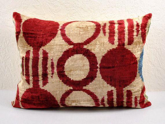 Handmade Velvet Silk Ikat pillow cover LP 4. Bohemian pillow by BlackFigDesigns on Etsy https://www.etsy.com/listing/195413341/handmade-velvet-silk-ikat-pillow-cover