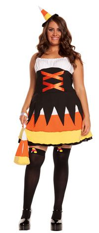 Candy Corn Plus Size Costume - Halloween Costumes