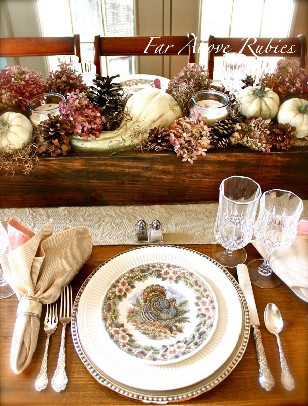 For The Past Year And A Half, I Have Been Using A Long Wooden Box ·  Thanksgiving TablescapesThanksgiving IdeasThanksgiving ...