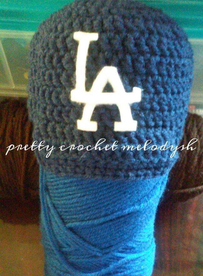Baby hat dodgers crochet