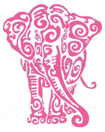 "Cross Stitch Pattern - Pink Elephant - 8""  x  10.5"" & Black and White Tiger Face - 8"" x 8"""