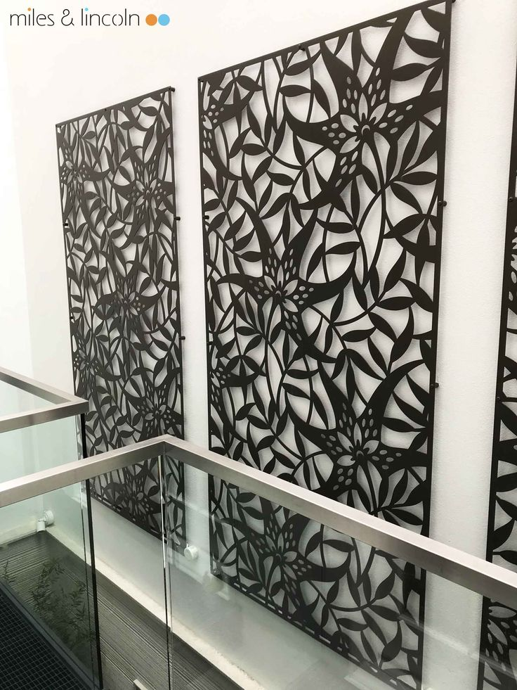 Laser cut screens - Atrium - Mayfair, London - Tiger Lily design by Miles and Lincoln. www.milesandlincoln.com