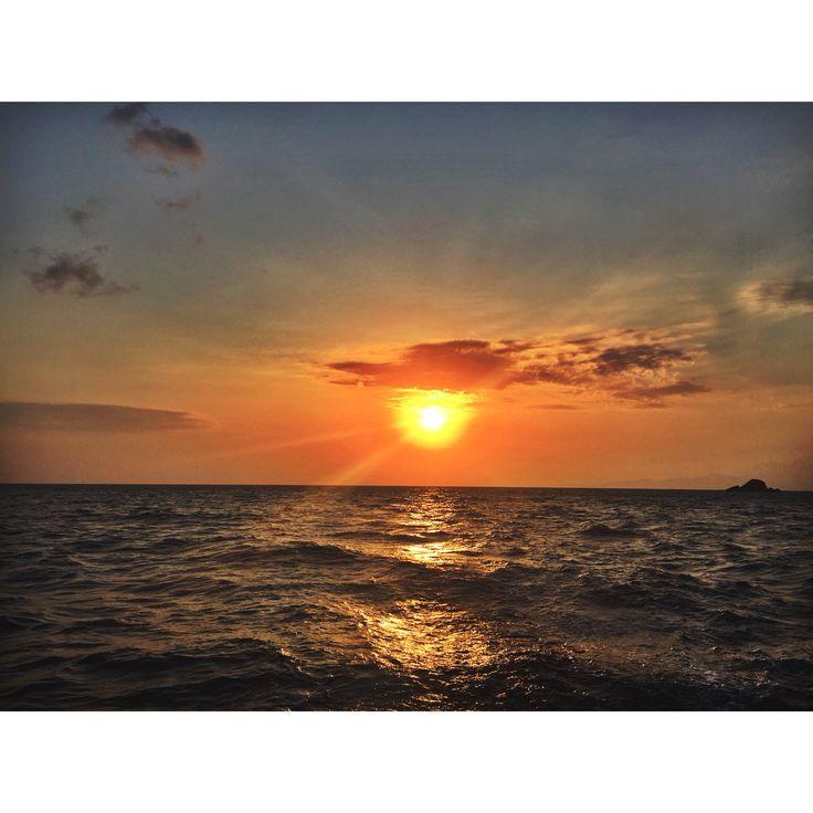 Sunset on the aegan sea ☀️