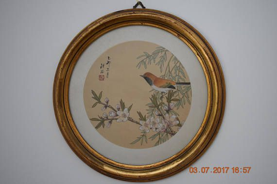 authentic Chinese etching 1980's