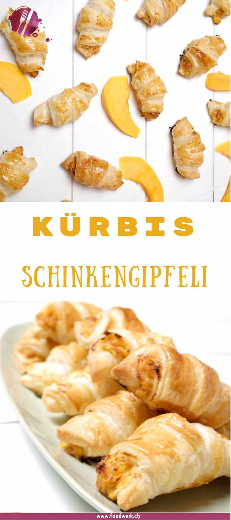 Die Kürbis Schinkengipfeli sin druck zuck gemacht. Es muss ja nicht immer extravagant sein und die Portion extra Gemüse tut auch jedem gut. Die Saison hat erst begonnen, aber die Kürbis Schinkengipfeli können sehr gut auf Vorrat produziert werden. Also los, vorauf wartet ihr? ;-) #kürbis #vorrat #snack #backen