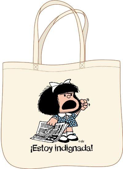 Bolsa Mafalda estoy indignada