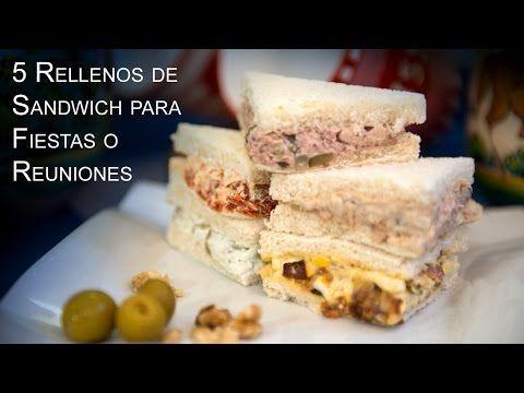 Ideas de rellenos para sandwiches, canapés, tartaletas y huevos rellenos |                    El Saber Culinario