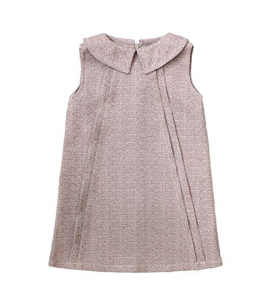 Textured Dress with Collar in Peony
