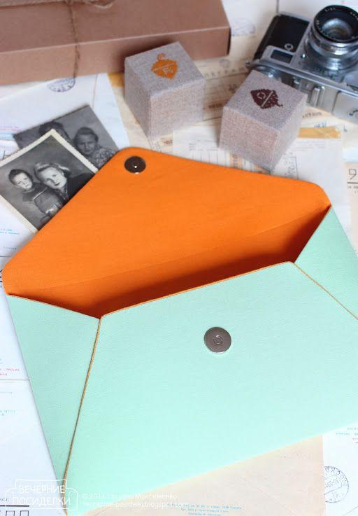 Клатч-конверт / Envelope clutch - Вечерние посиделки