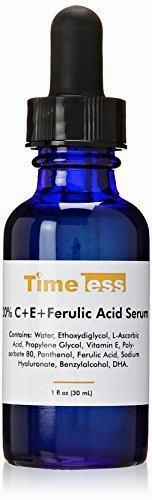 Timeless Skin Care 20% Vitamin C Plus E Ferulic Acid Serum, 1 oz  BUY NOW     $16.48    Size: 1 fl. oz. (30 mL). The Timeless serum collection contains high concentrations of hyaluronic acid and matrixyl that you w ..  http://www.beautyandluxuryforu.top/2017/03/05/timeless-skin-care-20-vitamin-c-plus-e-ferulic-acid-serum-1-oz/