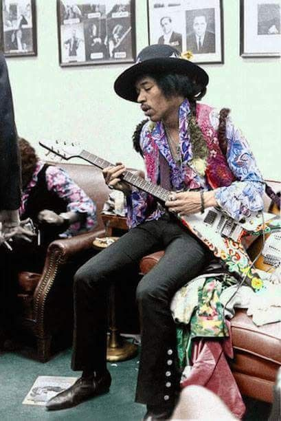 Saturday March 2nd, The Jimi Hendrix Experience Played Two Shows At Hunter College In New York City, ( Backstage )
