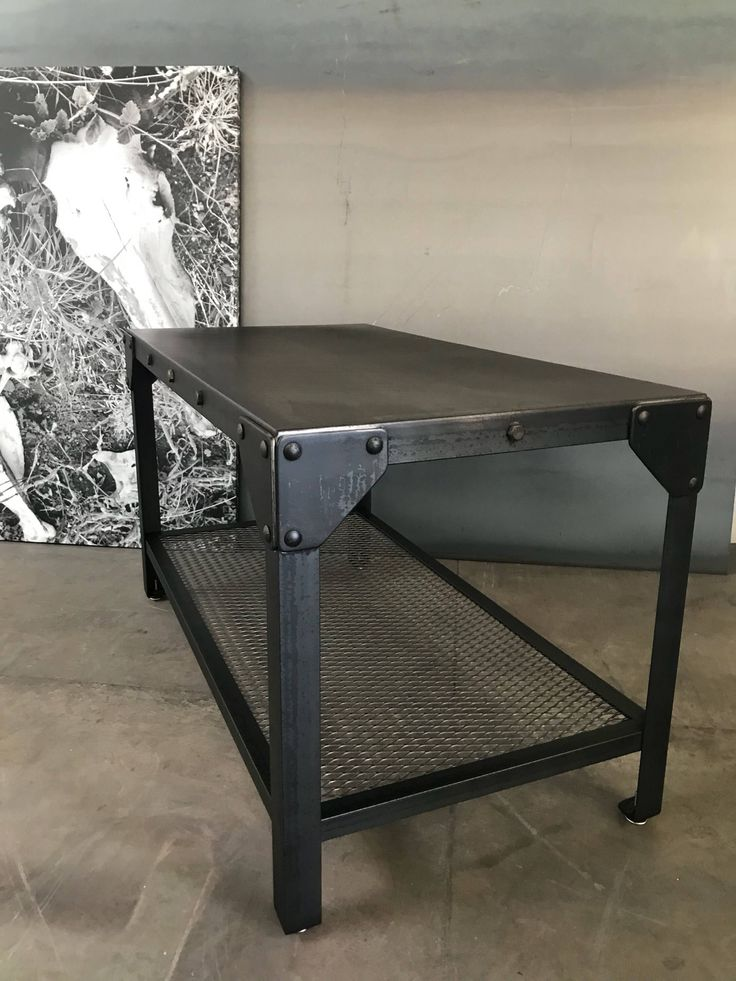 Industrial coffee table/ end table. by RusticSantaFe on Etsy https://www.etsy.com/listing/597496257/industrial-coffee-table-end-table