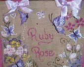 Handpainted jute bags, personalised jute bag,  custom painted
