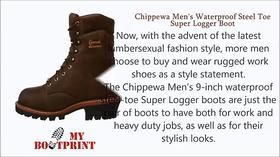 Chippewa Logger Boots (for MEN)Getting the work done and still be good looking? That is not difficult task anymore with those awesome chippewa logger boots http://mybootprint.com/chippewa-waterproof-steel-toe-super-logger-boot/ Apart from being comfortable and good looking, they are also waterproof AND have steel toes. What more do you need? #chippewaloggerboots #chippewaboots #workboots