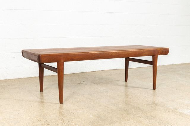 This Teak Extension Coffee Table Was Designed By Johannes Andersen For Cfc Silkebo Mid Century Coffee Table Danish Modern Mid Century Coffee Table Coffee Table
