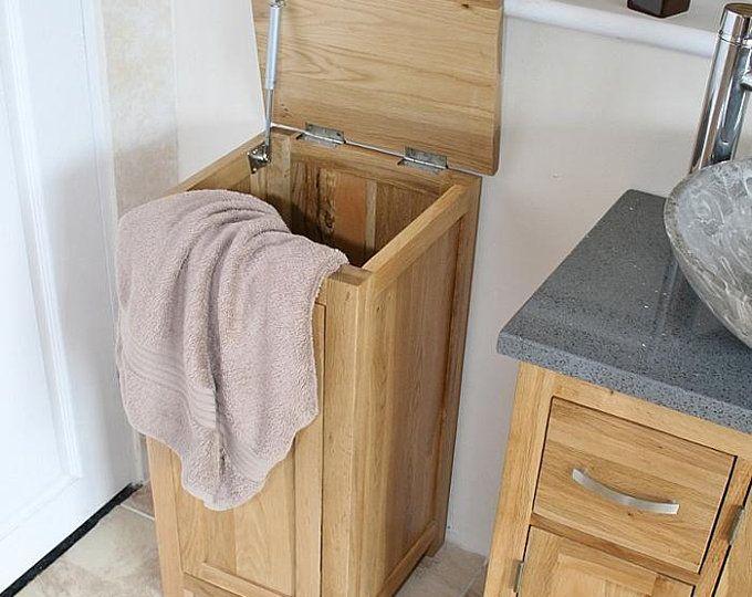 Laundry Basket Holder Laundry Room Decor Laundry Organizer Etsy Oak Vanity Unit Vanity Units Corner Vanity Unit