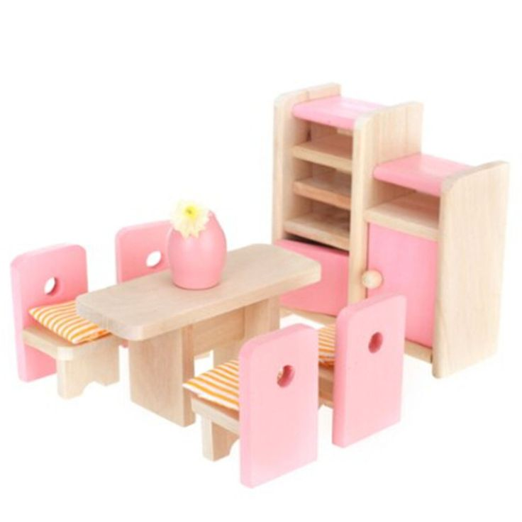 kids dollhouse furniture. adorable wooden miniature dollhouse dinning room funiture set kids toy furniture o