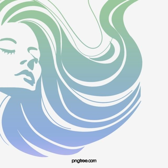 Cartoon Hand Drawn Curly Long Hair Woman Side Face Illustration Blue Curly Hair Long Hair Png Transparent Clipart Image And Psd File For Free Download Face Illustration Hair Clipart How To
