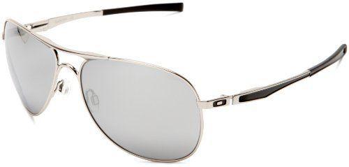 Oakley Sunglasses Aviators  oakley men's plaintiff oo4057 03 aviator sunglasses,chrome frame/chrome iridium lens,one size oakley. $127.00. save 21% off!