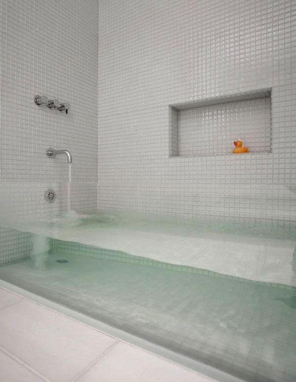 TOP 15 des idées pour rendre votre maison incroyablement cool baignoire transparente