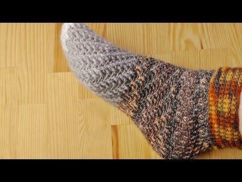 ▶ How to crochet swirl socks without heel - YouTube