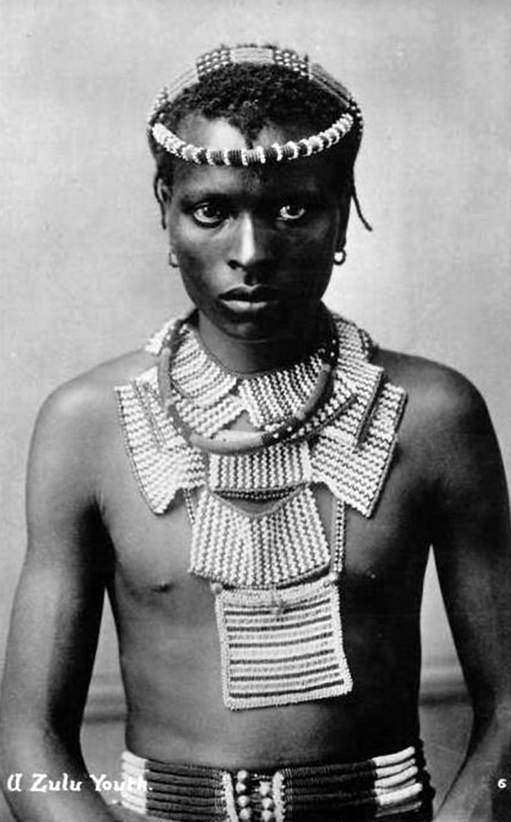 "Africa | ""A Zulu Youth"".  South Africa 