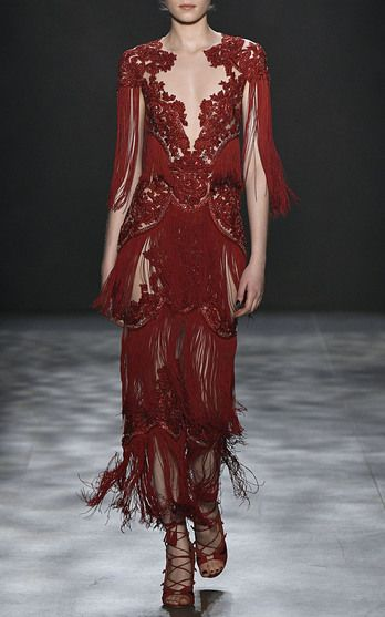 The designers: Season after season, Georgina Chapman and Keren Craig's gowns dominate the Hollywood red carpet.     This season it's about: Red cherry blossoms, opulent tassels and a hero LBD in velvet with a feathered neckline, come inspired by Imperial China.