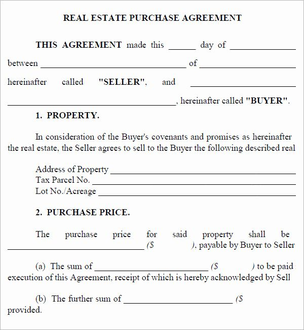 Free Real Estate Contract Luxury Real Estate Purchase Agreement 7
