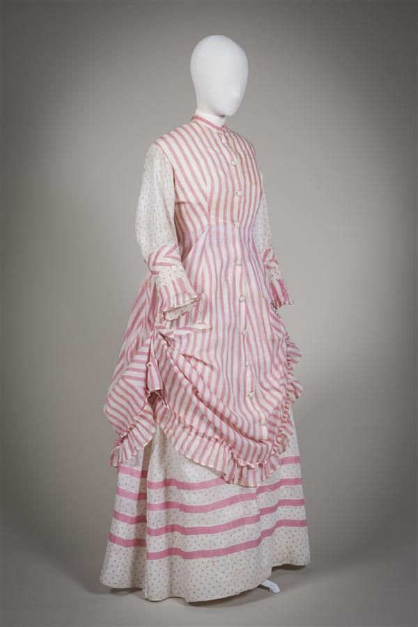 "fripperiesandfobs: ""Day dress ca. 1875 From the Gemeentemuseum Den Haag """